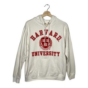 H&M Harvard University White College Hoodie Large